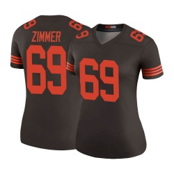 Justin Zimmer Cleveland Browns Women's Color Rush Legend Nike Jersey - Brown
