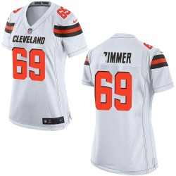 Justin Zimmer Cleveland Browns Women's Game Nike Jersey - White