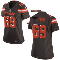 Justin Zimmer Cleveland Browns Women's Game Team Color Nike Jersey - Brown