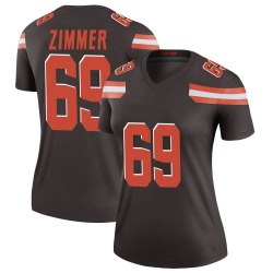Justin Zimmer Cleveland Browns Women's Legend Nike Jersey - Brown