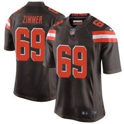 Justin Zimmer Cleveland Browns Youth Game Team Color Nike Jersey - Brown