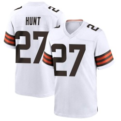 Kareem Hunt Cleveland Browns Men's Game Nike Jersey - White
