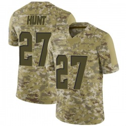 Kareem Hunt Cleveland Browns Men's Limited 2018 Salute to Service Jersey - Camo