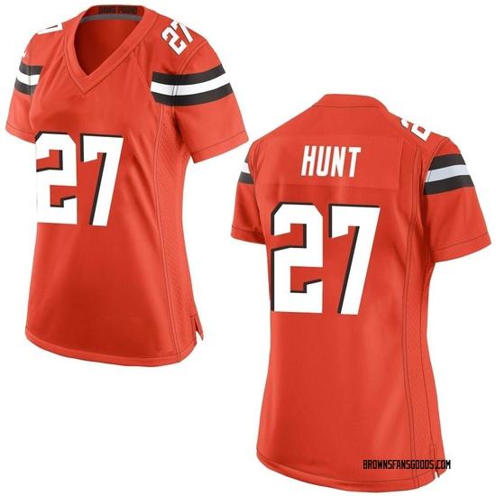 Kareem Hunt Cleveland Browns Women's Game Alternate Nike Jersey - Orange