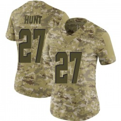 Kareem Hunt Cleveland Browns Women's Limited 2018 Salute to Service Nike Jersey - Camo