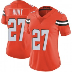 Kareem Hunt Cleveland Browns Women's Limited Alternate Vapor Untouchable Nike Jersey - Orange