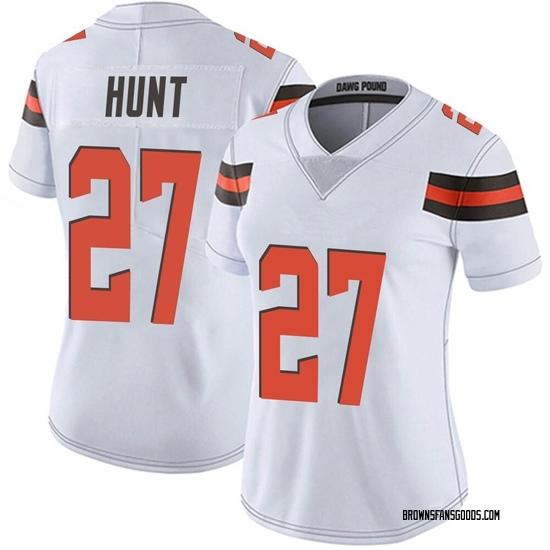 Kareem Hunt Cleveland Browns Women's Limited Vapor Untouchable Nike Jersey - White