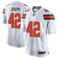 Karl Joseph Cleveland Browns Men's Game Nike Jersey - White