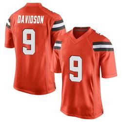 Kevin Davidson Cleveland Browns Men's Game Alternate Nike Jersey - Orange