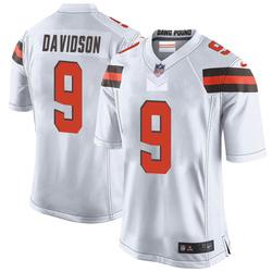 Kevin Davidson Cleveland Browns Men's Game Nike Jersey - White