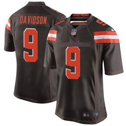 Kevin Davidson Cleveland Browns Men's Game Team Color Nike Jersey - Brown