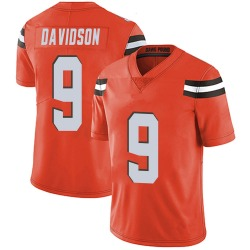 Kevin Davidson Cleveland Browns Men's Limited Alternate Vapor Untouchable Nike Jersey - Orange
