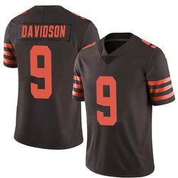 Kevin Davidson Cleveland Browns Men's Limited Color Rush Nike Jersey - Brown