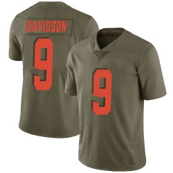 Kevin Davidson Cleveland Browns Men's Limited Salute to Service Nike Jersey - Green