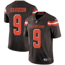 Kevin Davidson Cleveland Browns Men's Limited Team Color Vapor Untouchable Nike Jersey - Brown