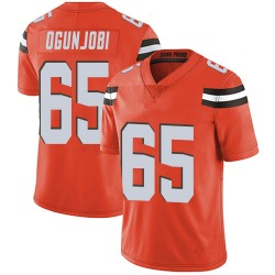 Larry Ogunjobi Cleveland Browns Men's Limited Alternate Vapor Untouchable Nike Jersey - Orange