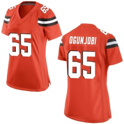 Larry Ogunjobi Cleveland Browns Women's Game Alternate Nike Jersey - Orange