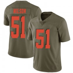 Mack Wilson Cleveland Browns Men's Limited Salute to Service Nike Jersey - Green