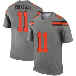 Men's Antonio Callaway Cleveland Browns Men's Legend Inverted Silver Nike Jersey