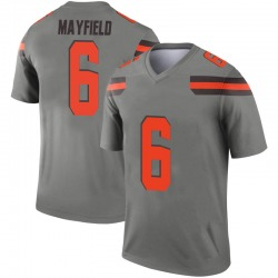 Men's Baker Mayfield Cleveland Browns Men's Legend Inverted Silver Nike Jersey