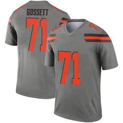 Men's Colby Gossett Cleveland Browns Men's Legend Inverted Silver Nike Jersey
