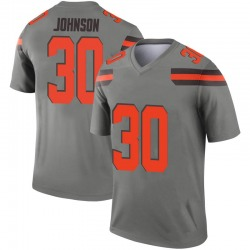 Men's D'Ernest Johnson Cleveland Browns Men's Legend Inverted Silver Nike Jersey