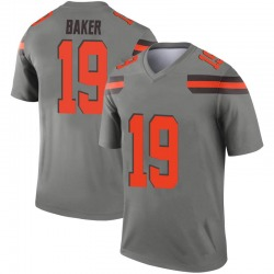 Men's Dorian Baker Cleveland Browns Men's Legend Inverted Silver Nike Jersey