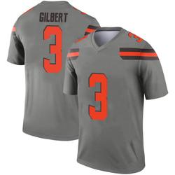 Men's Garrett Gilbert Cleveland Browns Men's Legend Inverted Silver Nike Jersey