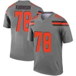 Men's Greg Robinson Cleveland Browns Men's Legend Inverted Silver Nike Jersey