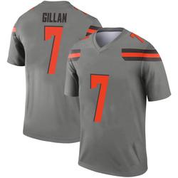 Men's Jamie Gillan Cleveland Browns Men's Legend Inverted Silver Nike Jersey