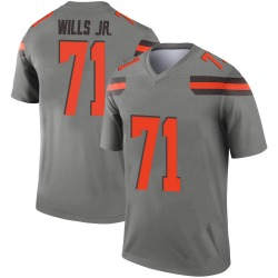 Men's Jedrick Wills Jr. Cleveland Browns Men's Legend Inverted Silver Nike Jersey