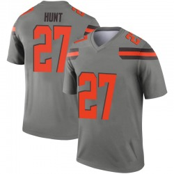 Men's Kareem Hunt Cleveland Browns Men's Legend Inverted Silver Nike Jersey