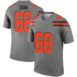 Men's Michael Dunn Cleveland Browns Men's Legend Inverted Silver Nike Jersey