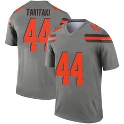 Men's Sione Takitaki Cleveland Browns Men's Legend Inverted Silver Nike Jersey