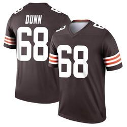Michael Dunn Cleveland Browns Men's Legend Nike Jersey - Brown