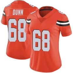 Michael Dunn Cleveland Browns Women's Limited Alternate Vapor Untouchable Nike Jersey - Orange