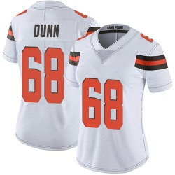Michael Dunn Cleveland Browns Women's Limited Vapor Untouchable Nike Jersey - White