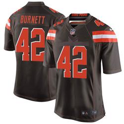 Morgan Burnett Cleveland Browns Men's Game Team Color Nike Jersey - Brown