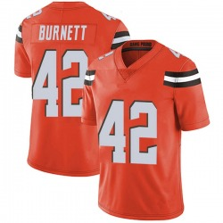 Morgan Burnett Cleveland Browns Men's Limited Alternate Vapor Untouchable Nike Jersey - Orange