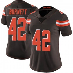 Morgan Burnett Cleveland Browns Women's Limited Team Color Vapor Untouchable Nike Jersey - Brown