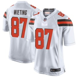 Nate Wieting Cleveland Browns Men's Game Nike Jersey - White