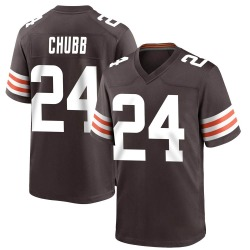 Nick Chubb Cleveland Browns Men's Game Team Color Nike Jersey - Brown