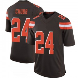 Nick Chubb Cleveland Browns Men's Limited 100th Vapor Nike Jersey - Brown