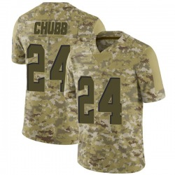 Nick Chubb Cleveland Browns Men's Limited 2018 Salute to Service Nike Jersey - Camo