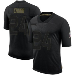 Nick Chubb Cleveland Browns Men's Limited 2020 Salute To Service Nike Jersey - Black