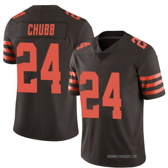 Nick Chubb Cleveland Browns Men's Limited Color Rush Jersey - Brown