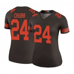 Nick Chubb Cleveland Browns Women's Color Rush Legend Nike Jersey - Brown