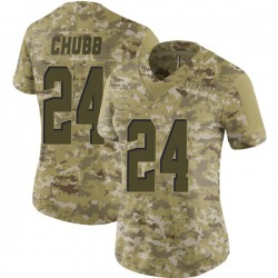 Nick Chubb Cleveland Browns Women's Limited 2018 Salute to Service Nike Jersey - Camo