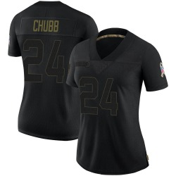 Nick Chubb Cleveland Browns Women's Limited 2020 Salute To Service Nike Jersey - Black