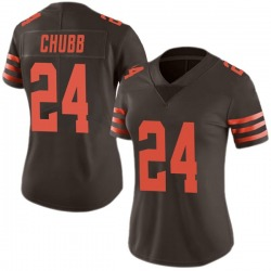Nick Chubb Cleveland Browns Women's Limited Color Rush Nike Jersey - Brown